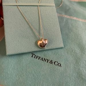 Tiffany & Co Curved Heart Necklace